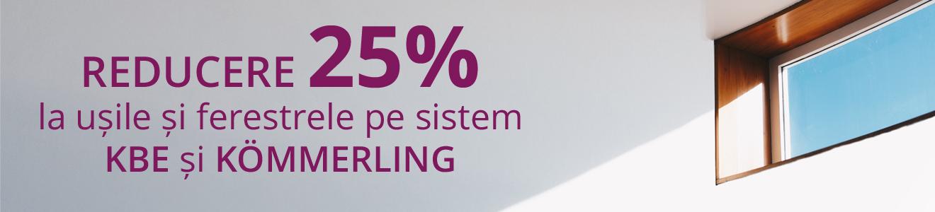 Reducere 25% la usi si ferestre cu geam termopan